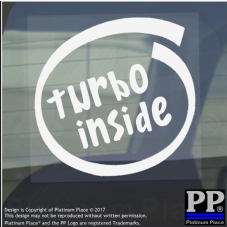 1 x Turbo Inside-Window,Car,Van,Sticker,Sign,Vehicle,V8,16V,Race,Fast,Boost,Speed
